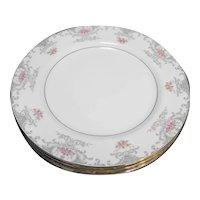 Mikasa Valentine 5007 Dinner Plates Pink Roses