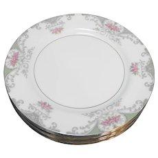 Mikasa Valentine 5007 Bread Plates Pink Roses