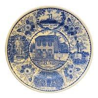 Mark Twain Home Blue Transferware Souvenir Small Plate