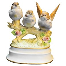 Towle Porcelain Birds Branch Music Box April Love
