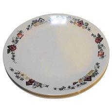 Corelle Garden Home Birdhouses Dinner Plates Set of 4