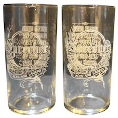 Sprecher Ales and Lagers Etched Drinking Glasses Milwaukee