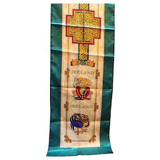 Ireland Souvenir Scarf Satin Long Scarf Celtic Knots