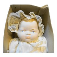 "Shackman Bye-Lo Baby Bisque 12"" Doll New in Box"