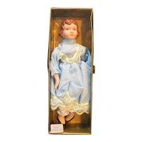"Four Star Trading Company Porcelain Doll 8"" Blue Dress"