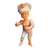 """Galoob Bouncin' Kids Ballerina 8"""" Pink White 1989"""