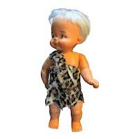 "Flintstones Bam Bam Ideal Toys Hanna Barbera 1960s 16"" Doll Original Clothes"