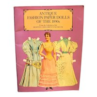 Dover Victorian Paper Dolls Antique Fashion Paper Dolls of the 1890s
