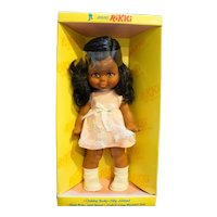 Jolly Toys Rikki Black African American Doll Pink Dress New in Box 12""