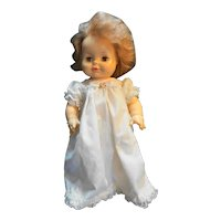 """Horsman 1971 Drink Wet Baby Doll Vinyl Sofskin Rooted Hair 14"""""""