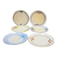 Stouffer Hand Decorated Small Porcelain Plates Group of 6