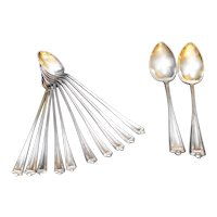 Rockford Silverplate Co Longfellow Iced Tea Spoons Table Spoons