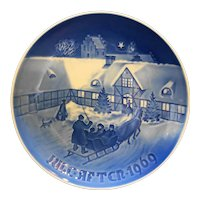 Bing & Grondahl B&G Arrival of Christmas Guests 1969 Plate