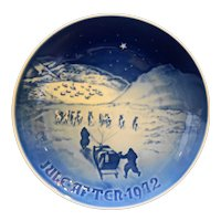 Bing & Grondahl B&G Christmas in Greenland 1972 Plate