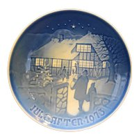Bing & Grondahl B&G Country Christmas 1973 Plate