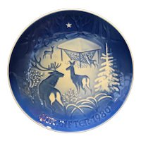 Bing & Grondahl B&G Christmas in the Woods 1980 Plate