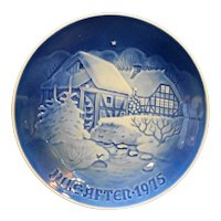 Bing & Grondahl B&G Christmas at the Old Watermill 1975 Plate