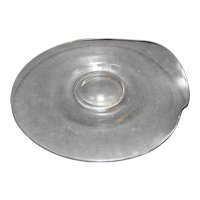Fostoria Contour Medium Torte Plate Clear Bent Glass
