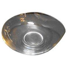 Fostoria Contour Open Round Serving Bowl Clear Bent Glass
