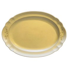 """Pfaltzgraff Heirloom Oval Platter 14"""" With Decal"""