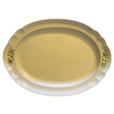 "Pfaltzgraff Heirloom Christmas Oval Platter 14 3/4"""
