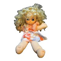 Fleetwood Toys 1988 Children for Children Blond Doll Big Eyes Soft Body