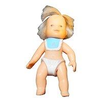 "Tara Vintage Vinyl Baby Doll Miniature 3"""