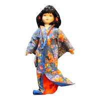 Porcelain Doll International Asian Japan Kimono