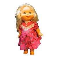 Honeycomb Panosh Place Vintage 1985 Doll Blonde Pink Floral Dress