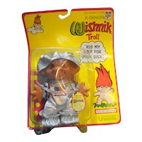 Vintage Uneeda Wishnik Space Astronaut Troll Figure New In The Package