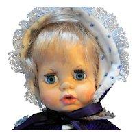 Ideal Toys Tiny Tears Baby Doll Blond Hair Drink Wet TNT-14-B-34 1971