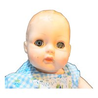 Madame Alexander 1977 Huggums Baby Doll Molded Hair Sleep Eyes Cloth Soft Body