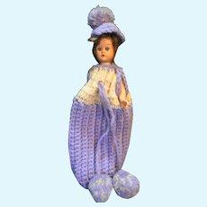 """Nancy Ann Storybook Hard Plastic Sleep Eyes 9"""" Doll 1950s Vintage"""