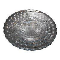 Anchor Hocking Sapphire Blue Bubble Grill Plates Set of 3