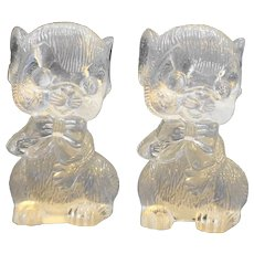 Clear Acrylic Lucite Plastic Mice Salt Pepper Shakers Hong Kong