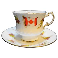 Kenora Ontario Elizabethan Fine Bone China Cup Saucer Souvenir