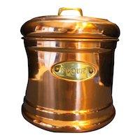 Benjamin Medwin Copper Flour Canister