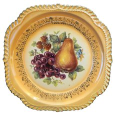 Peach Lustre Fruit Center Harker Gadroon Salad Plate Drive in Pottery