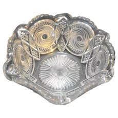 Canonball Pinwheel US Glass EAPG Bowl