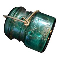 Ball Ideal Half Pint Green Bicentennial Wire Bale Canning Jar