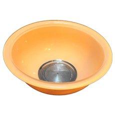Pyrex 323 1.5L Peach Pastel Orange On Clear Mixing Bowl