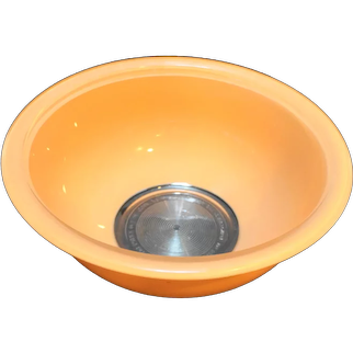 Pyrex 323 1.5L Peach Pastel Orange On Clear Mixing Bowl