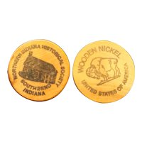 Northern Indiana Historical Society Wooden Nickels