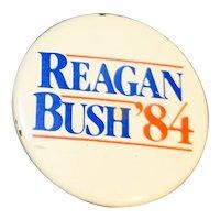 Reagan Bush '84 Campaign Pin Button