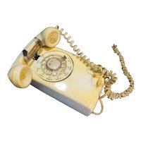 Bell Telephone Western Electric Cream Beige Rotary Dial Wall Phone 228