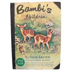 Bambi's Children Hardcover by Felix Salten 1950 Edition Adapted by Allen Chaffee