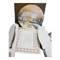 Thomas Kinkade Home To Grandma's Christmas Plate Signed in Box COA