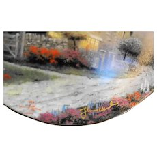 Thomas Kinkade McKenna's Cottage Plate Signed in Box COA