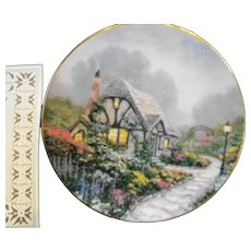 Thomas Kinkade Chandler's Cottage Plate Signed in Box COA