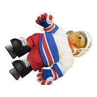 "Tender Treasures 12"" Bear Hockey Player"